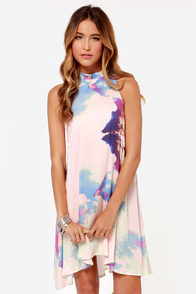 Somedays Lovin' The Great Divide Pink Print Dress at Lulus.com!