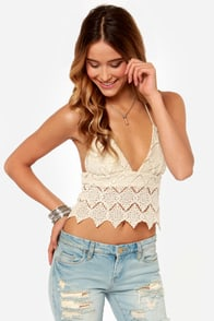 Somedays Lovin' Tambourine Cream Crochet Top
