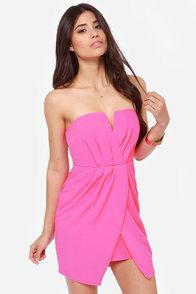 Cutie Pie Strapless Hot Pink Dress at Lulus.com!