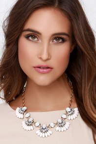 Mist Universe Grey and Ivory Statement Necklace at Lulus.com!