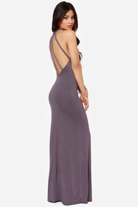 Strap and Gown Dusty Purple Maxi Dress at Lulus.com!