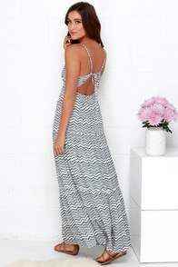 Billabong Sun Lovin Slate Blue Striped Maxi Dress at Lulus.com!
