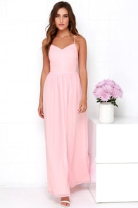 Rooftop Icing Light Pink Maxi Dress at Lulus.com!