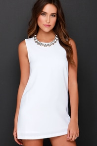 Luxe-adaisical Ivory Shift Dress at Lulus.com!
