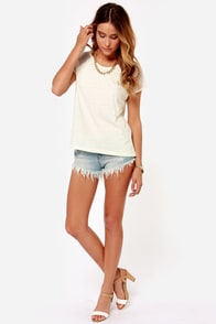 Obey Contact High Cream Mesh Top at Lulus.com!