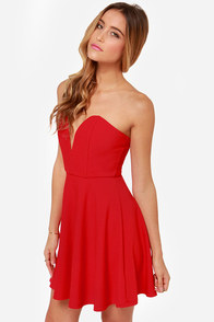 LULUS Exclusive All Good Things Strapless Red Dress at Lulus.com!