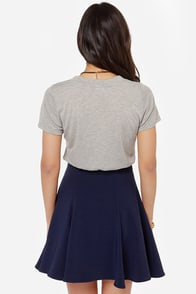 Steal a Kiss Navy Blue Skirt at Lulus.com!