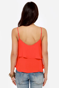 Lend Me Your Tiers Orange Red Tank Top at Lulus.com!