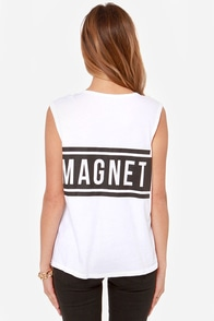 Lovers + Friends Babe Magnet White Muscle Tee at Lulus.com!