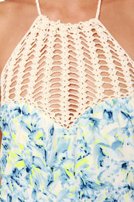 Lovers + Friends Mahalo Blue Floral Print Maxi Dress at Lulus.com!