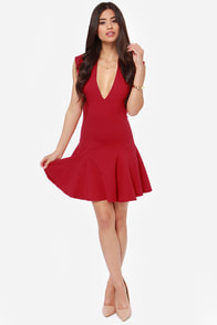 LULUS Exclusive Fine By Me Red Dress at Lulus.com!