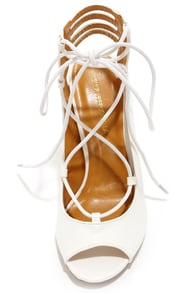 Shoe Republic LA Helice White Lace-Up High Heels at Lulus.com!