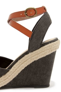 BC Footwear Rough and Tough Black Espadrille Wedges at Lulus.com!