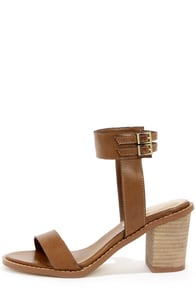 Chinese Laundry Cosmo Sugar Brown Ankle Strap Sandals