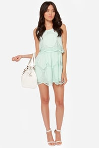 Laced and Found Mint Blue Dress at Lulus.com!