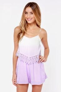 Sweet Ombre Alabama Lavender Romper at Lulus.com!