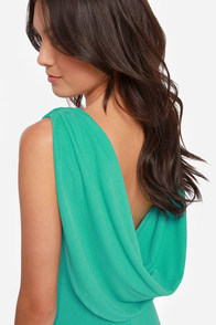 Swank You Very Much Backless Teal Dress at Lulus.com!