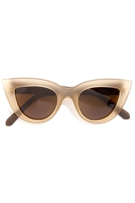 Quay Kitti Coffee Brown Cat Eye Sunglasses