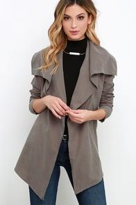 Glamorous Bundle Down Washed Grey Jacket at Lulus.com!