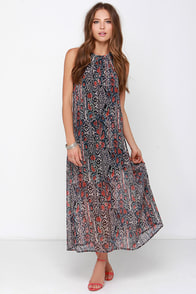 Sweet Poisonality Black Snake Print Maxi Dress at Lulus.com!