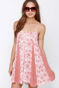 Gentle Fawn Scout Ivory and Brick Red Print Romper at Lulus.com!