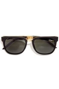 Quay Oslo Black Sunglasses