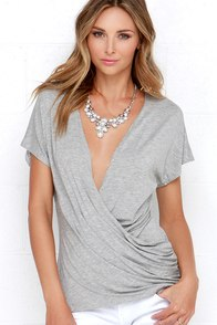 Twist and Tout Reversible Grey Top at Lulus.com!