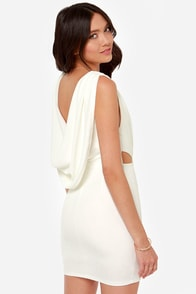Swank You Very Much Backless Ivory Dress