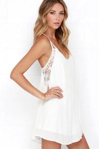 Spirited Ivory Lace Dress at Lulus.com!