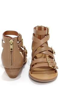 Kelsi Dagger Arlington Almond Leather Gladiator Sandals at Lulus.com!