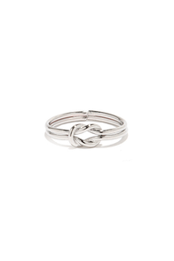 Forever and Ever Silver Knot Ring at Lulus.com!