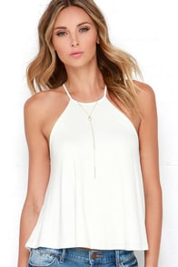 Brave Silence Ivory Top at Lulus.com!
