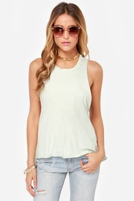 Obey Rider Ice Mint Muscle Tee at Lulus.com!