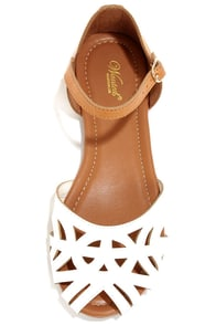 Wanted Zuma White Cutout Sandals at Lulus.com!