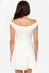 Squiggles and Giggles Ivory Dress at Lulus.com!