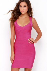 Rise and Revel Fuchsia Bodycon Dress at Lulus.com!