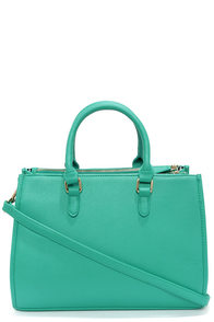Brights Out Teal Handbag