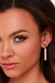 Stick and Stones Pink Earrings at Lulus.com!