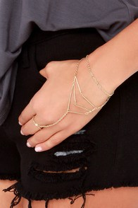 Beyond the Compass Gold Harness Bracelet at Lulus.com!
