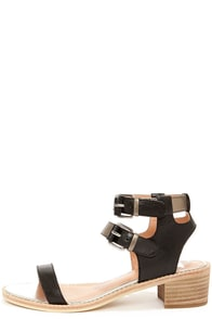 Dolce Vita Zinc Black Metallic Sandals