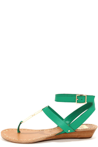 Dolce Vita Vasni Jade Metal Plated Thong Sandals