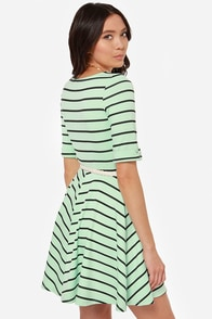 Others Follow Charlotte Black and Mint Striped Dress at Lulus.com!