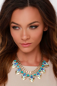 Get Spruced Mint Rhinestone Necklace at Lulus.com!
