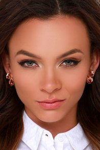 Glamor Hour Pink Rhinestone Peekaboo Earrings at Lulus.com!