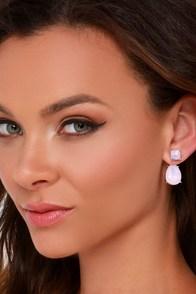 Forever Yours Pink Rhinestone Peekaboo Earrings at Lulus.com!