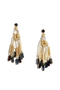 That's Show Biz Gold Beaded Earrings at Lulus.com!