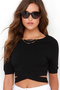 Nocturne Serenade Black Crop Top at Lulus.com!