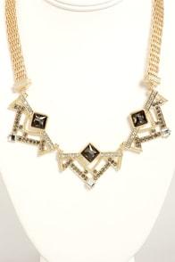 Art Decadence Grey Rhinestone Necklace at Lulus.com!