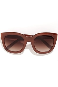 Feline Rust Brown Sunglasses at Lulus.com!