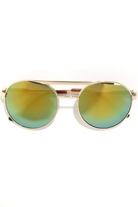 Mirror Mirror Yellow Aviator Sunglasses